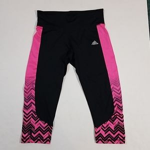 Adidas Climalite Pink Black Workout Capri tights